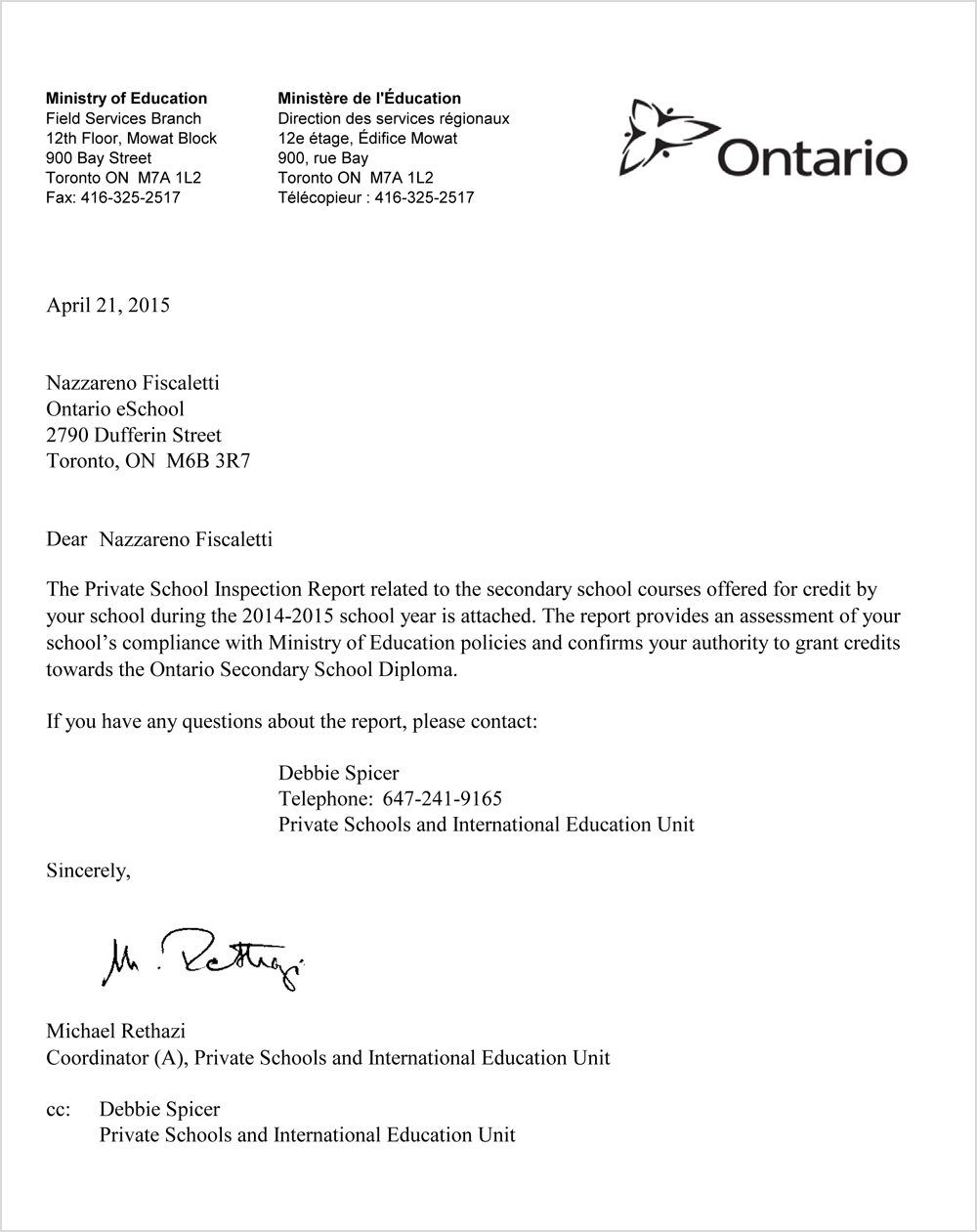 Ontario eSchool Accreditation
